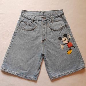 Disney Mickey | Vintage Mickey Mouse denim shorts